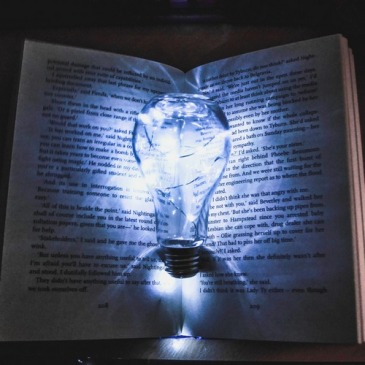 tips and ideas for writing fiction: Light bulb inside a book