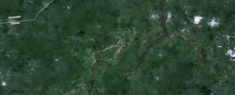 Mabaruma Guyana satellite photo map